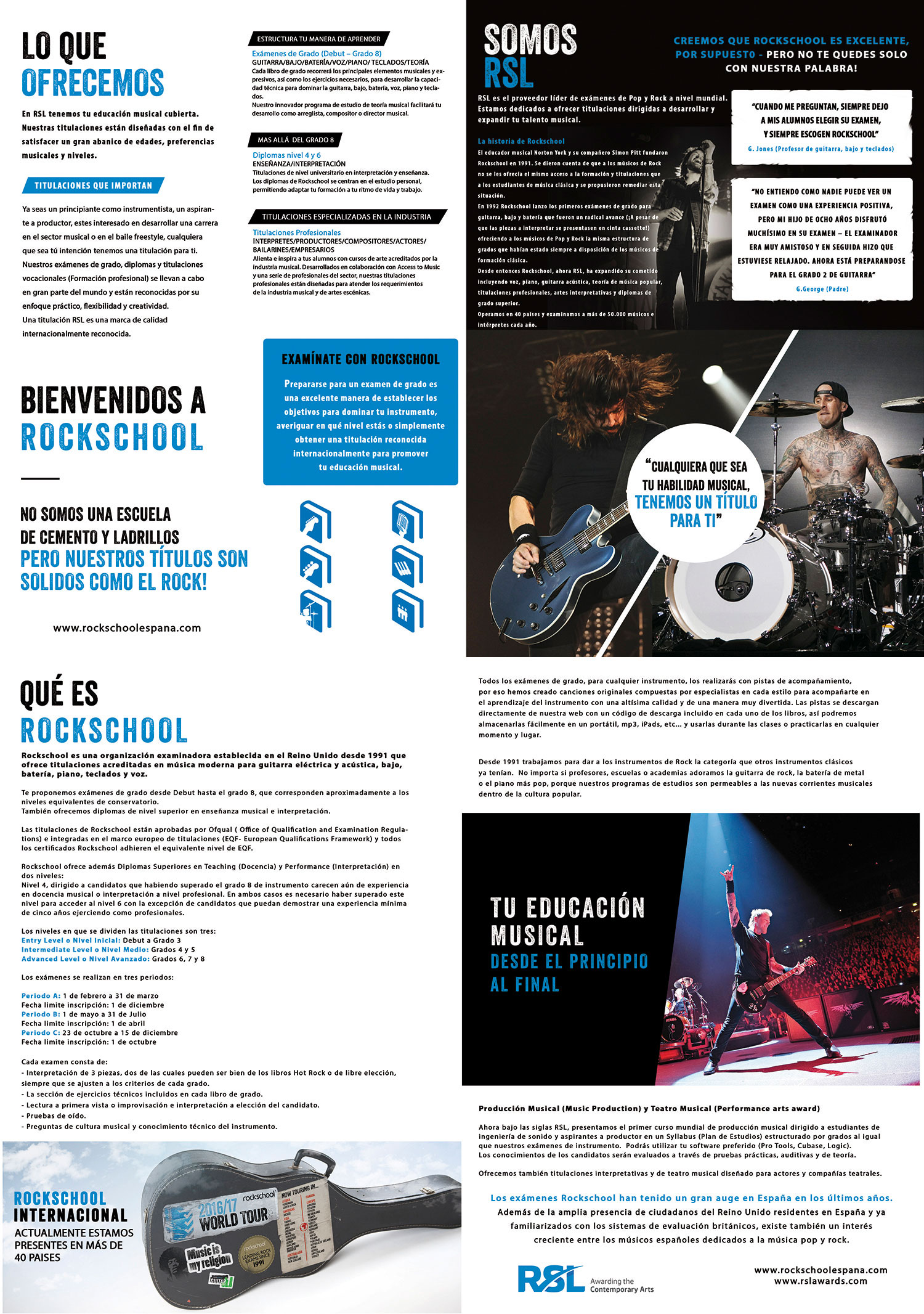 RockSchool folleto